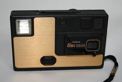 Vintage Disk 3500 Kodak Camera Retro Photography Plastic Body Gold Black Color