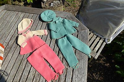 Vintage Dolls Knitted Outfit Clothes by Wilson Knitwear 1930;'s