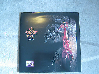 "All About Eve Scarlet 12"" gatefold sleeve single with poster"