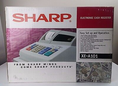 Sharp XE-A101 High Contrast LED POS Point of Sale Cash Register - New Opened Box