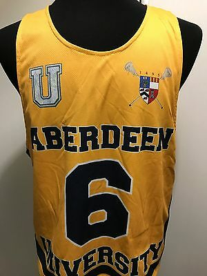 Very Rare Aberdeen University Lacrosse Jersey Player Issue Reversible Size M