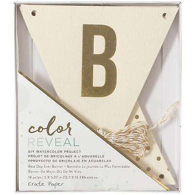 Color Reveal Watercolor Kit Banner 18/Pcs Best Day Ever 718813757881