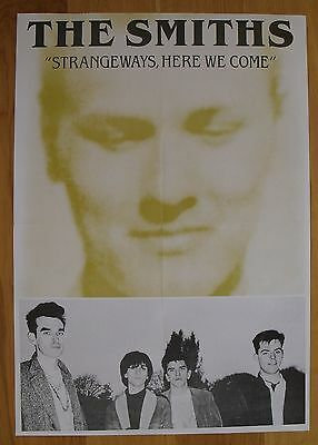 THE SMITHS strangeways here we come vintage poster   morrissey