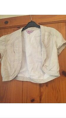 Monsoon Size 12 Cream Waistcoat Sleeveless Jacket Shrug