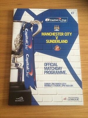 MANCHESTER CITY v SUNDERLAND CAPITAL ONE CUP FINAL 2014