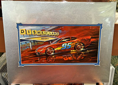 Disney Parks DCA Cars Land Lightning Speed Deluxe Print by Chip Foose New Sealed