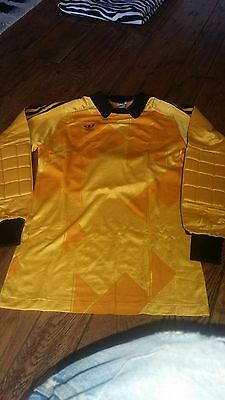 Adidas Vintage T-Shirt Goalkeeper 80S West Germany Soccer Rare New Nos 1988
