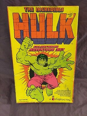 Vintage 1978 The Incredible Hulk Colorforms Adventure Set