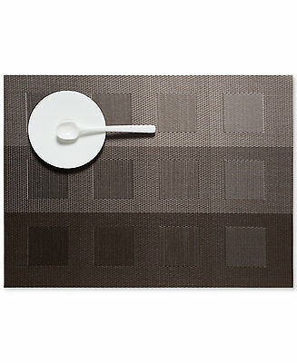 CHILEWICH Engineered Squares STEEL Placemats Set of 4 Brand New-14 x 19