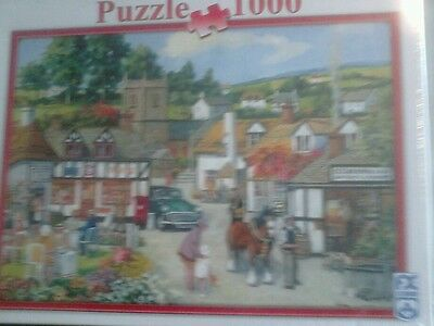 1000 piece jigsaw puzzle. Village life.  New