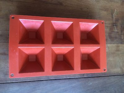 Silicone Dessert Baking Soap Jelly Mould, Pyramid X 6