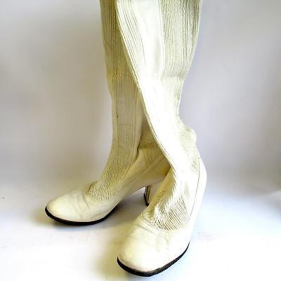 Ladies Vintage White Boots 1960's Style Size 4 Clifford Turner/Elizabethan Room