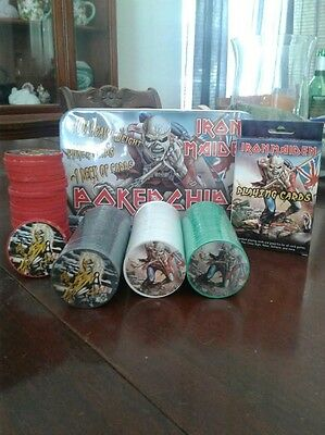 Iron Maiden Collectible Poker Set with Cards and Tin