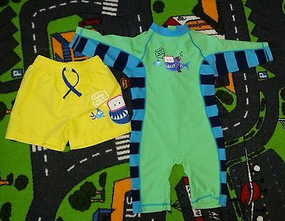 Boys 18-24 months swim suit UPF40 + matching swim shorts