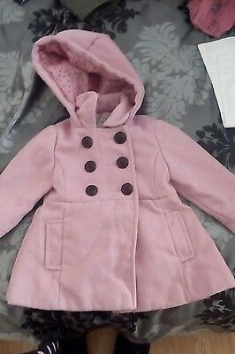 baby girls coat next 12-18 months excellent condition