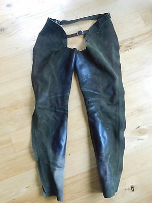 Barnstable Schooling Full Chaps Green Suede Leather Womens Extra Small XS (CH25)