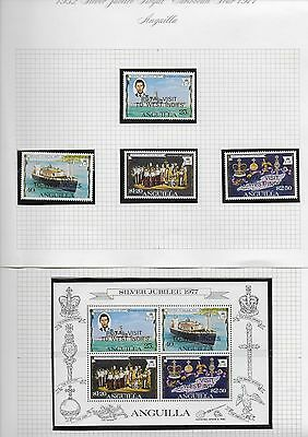 Anguilla 1977 Silver Jubilee Overprint set SG 298-301 and Miniture Sheet MS302.
