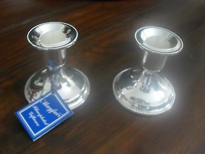 Pair of Silver Plated Candlesticks - brand new