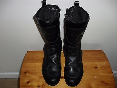Frank Thomas Black   Leather  Armour  Motorcycle   Boots Size  5 Eur 39