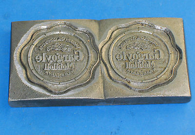 Danish Gargoyle Vacuum oil Mobiloil advertising sticker double pressing tool