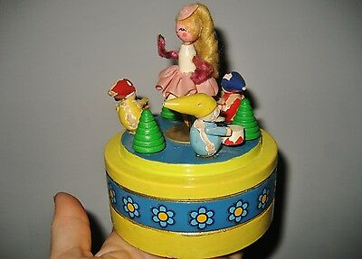Antique Reuge Swiss MUSIC BOX Erzgebirge? Swedish Rhapsody dancing ballerina