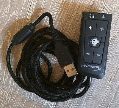 New Kingston HyperX Cloud 2 II headset 7.1 surround sound USB dongle. Rare.