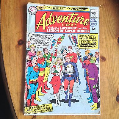 Dc comics silver age Adventure comics No337 Poor condition