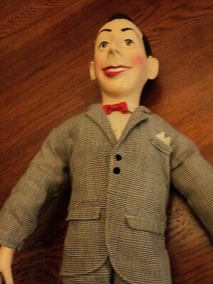 """Pee-Wee Herman 1987 Matchbox Toys 17"""" Pull String Doll In Working Condition"""