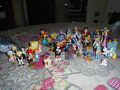 lotto kinder e simili dragon ball shrek winnie phoo  55 pezzi lot giocattoli