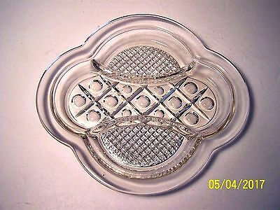 """Vintage Imperial Glass Co. #160  """"Cape Cod"""" divided relish dish"""
