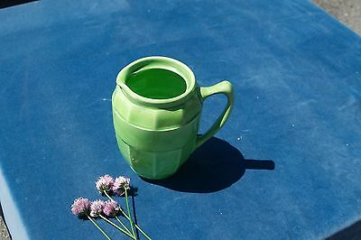 Antique Art Deco Pitcher Jug Green Made in England
