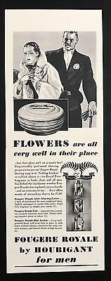1937 Vintage Print Ad 1930s FOUGERE ROYAL By HOUBIGANT Shaving Soap Grooming