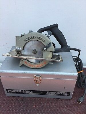 "Porter Cable Saw Boss Model 345 Skill Saw 6"" - With Carbide tipped Blade"