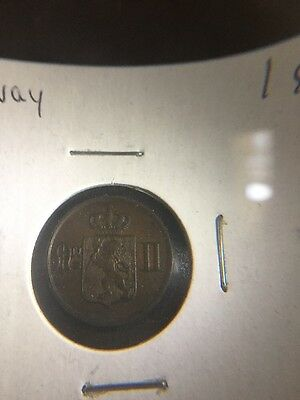 1902 High Grade Norway One Ore Coin
