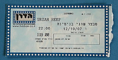 Uriah Heep Mick Box CONCERT TICKET STUB 2007 Live in Shuni Castle Israel Michael