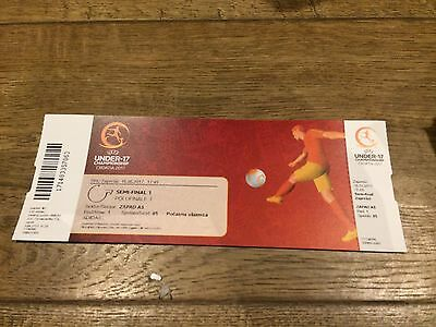 Uefa Under-17 Championships 2017 Semi Final- Turkey V England- Ticket Stub