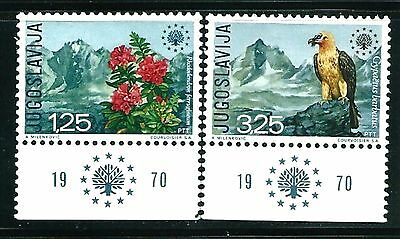 Yugoslavia 1970 National Conservation Set Mnh With Tabs. Cat £17.70
