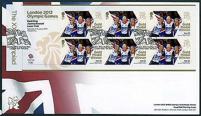 Fdc 2012 King Trott Rowsell Gold Medal First Day Cover London Olympic Games
