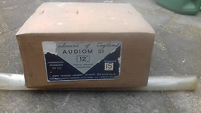 Audiom 51 12 inch Vintage Loudspeaker New in Box