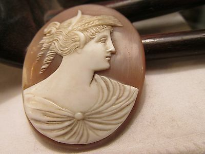 Antique Neo classical carved shell cameo unset