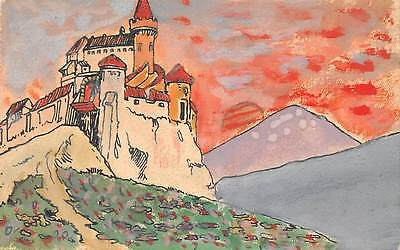 Germany Essen Castle Drawing Illustration Painting 1920