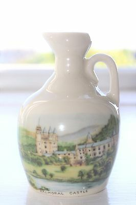 Rare Rutherford's Whisky Balmoral Castle Decanter Jug 50 ml Queen Elizabeth II