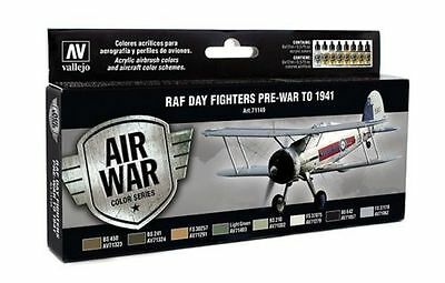 Vallejo Model Air RAF Day Fighter Pre War to 1941 8 X 17ml Paint Set