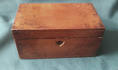 Antique Small Wood Tea Caddy For Restoration