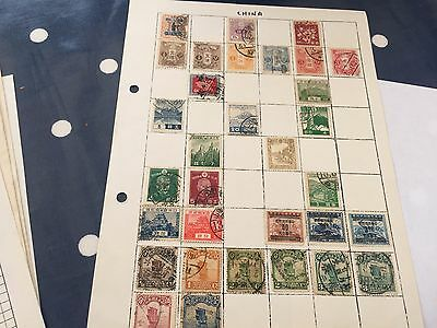 China hoard of stamps used mint & nhm on album and stock pages 100+