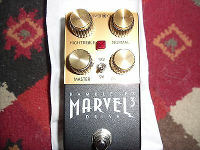 NEW! Ramble FX Marvel Drive V3 Version 3 overdrive distortion pedal in black