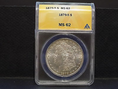 1879-S Morgan Silver Dollar- Graded By ANACS MS 62