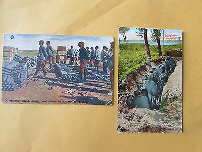 Vintage Belgian Post Cards WW1 Verdun Shell Camp & Trench Warfare