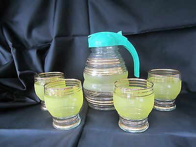 Vintage 1930's/40's jug and glasses set