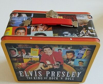Elvis Presley King of Rock Lunch Box Tin Collectible New Small ding in corner
